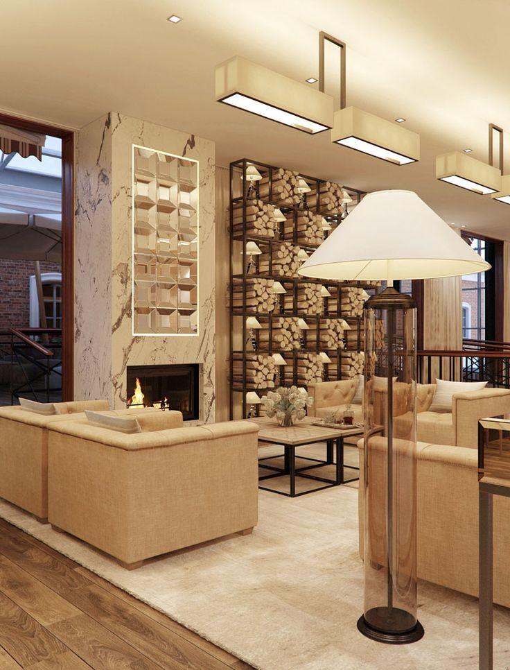Дизайн пространства лобби бара отеля «SOKOS PALACE BRIDGE». Санкт-Петербург (450 кв.м.) - Дизайн-студия ICON