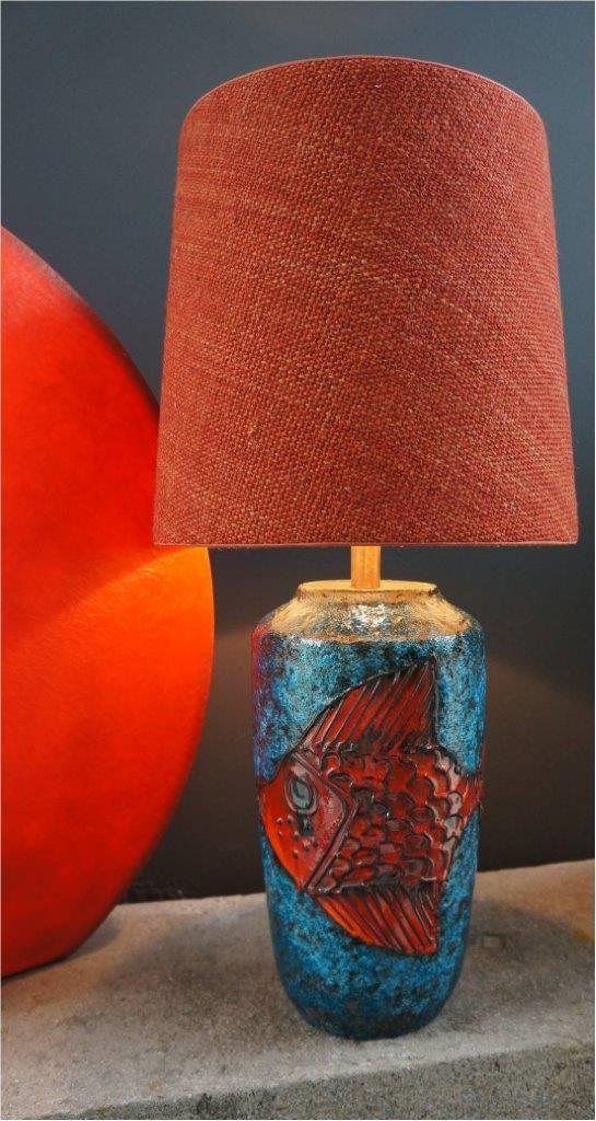 Vintage table lamp, German