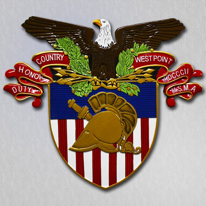 Proud to have been requested to reproduce the West Point Military Academy crest as a custom wall #military #plaque