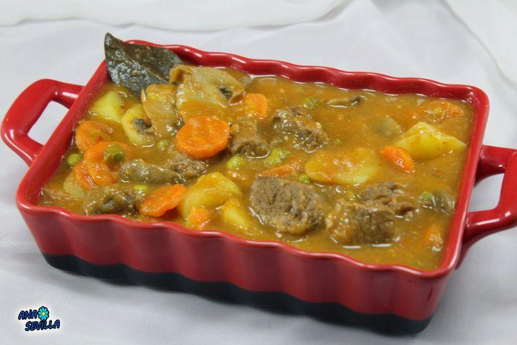 Un plato sano y completo, carne y mucha verdurita, Ternera a la jardinera, c ocina tradicional.