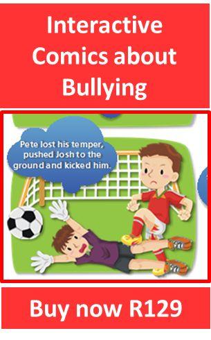 teach children about bullying, interactive comic strips about bullying, bully stories, comics about bullies, teach kids empathy, prevent bully behaviour, boo to bullies, stop bullying, bullying in schools