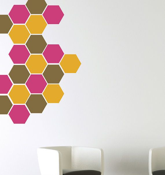 Hey, I found this really awesome Etsy listing at https://www.etsy.com/listing/234466442/honeycomb-wall-decals-bee-wall-decals