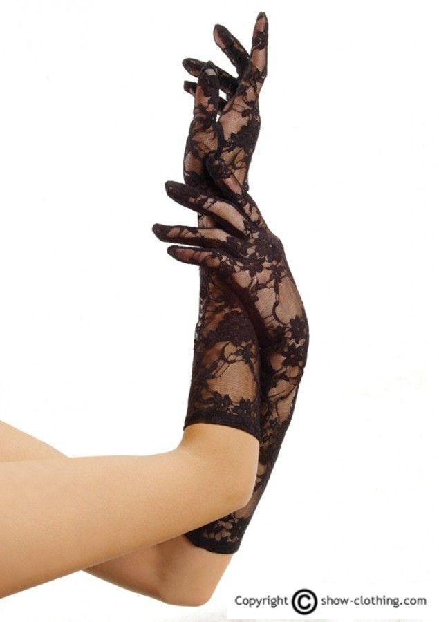Complementa tu look con estos guantes sexys de encaje en negro de primera calidad, le darás un toque sensual a la par de elegante a tu outfit. Siéntete como una auténtica diva de los años 20!