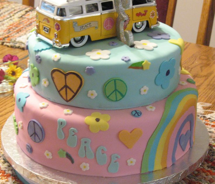 24 Best Hippie Cakes Images On Pinterest