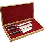Shun Classic Pro 3 Pc Asian Chef's Knife Boxed Set by Shun. $479.95. Shun Pro 3 Piece Asian Chef's Set in Bamboo Box