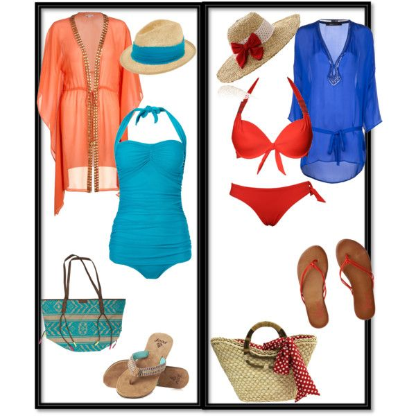 One piece vs. two piece bathing suit by vintagechic360 on Polyvore featuring Heidi Klein, Roberto Cavalli, Biba, LingaDore, Volcom, Billabong, Lalù and Tracy Watts
