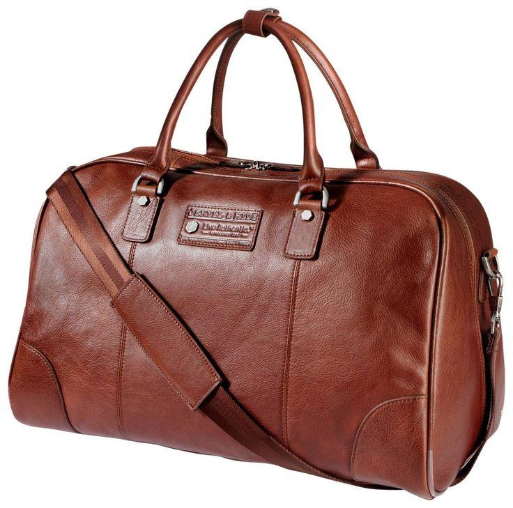 Jekyll and Hide Barcelona Leather Holdall - Cognac | Jekyll and Hide Bag | KJ Beckett