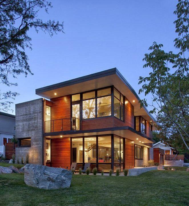 Proyecto: Dihedral House Tipo: Residencial casa moderna Estilo: Arquitectura contemporánea Diseño: Arch 11 Ubicación: Boulder, Colorado.