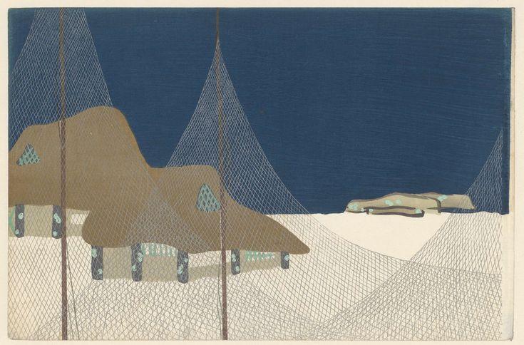 Vissersdorpje, Kamisaka Sekka, 1909
