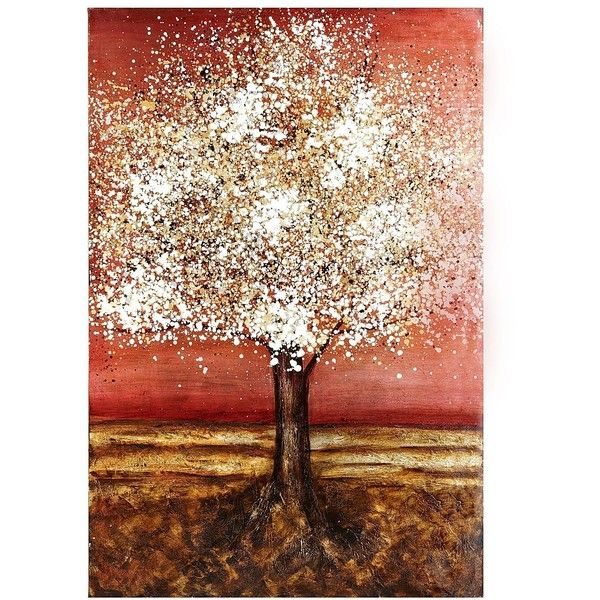 Pier 1 imports fanciful tree art red found on polyvore featuring polyvore home