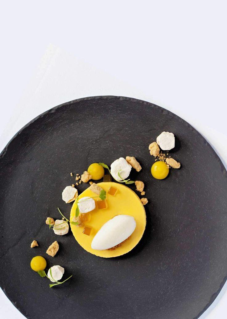 Passion Fruit Parfait with Lime & Mint Sorbet, Coconut Pebbles & Ginger Jellies | Crush 46