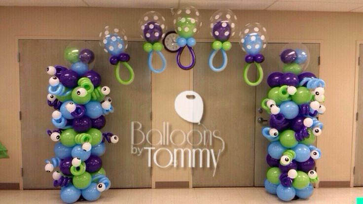 A Monster's Inc themed baby shower.  Thinking outside the box can really pay…