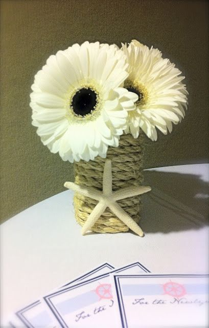 Satin And Salt: DIY: Nautical Centerpieces