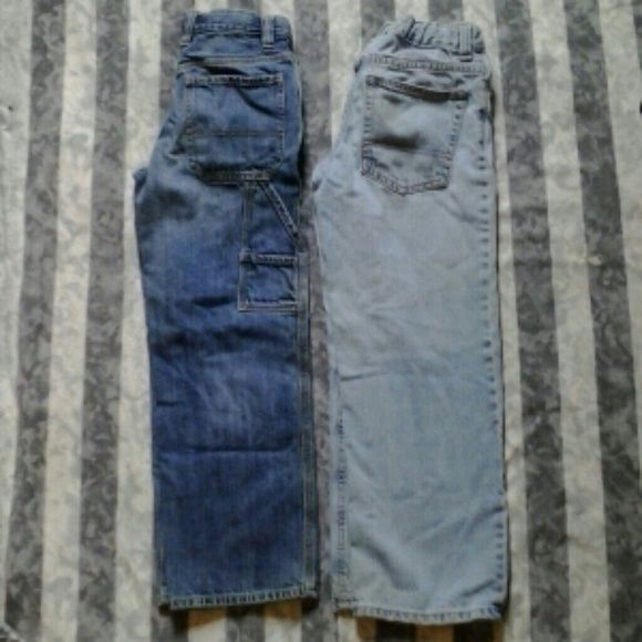 Old Navu boys jeans 2 pair one darker painter & lighter loose fit boys jeans Jeans