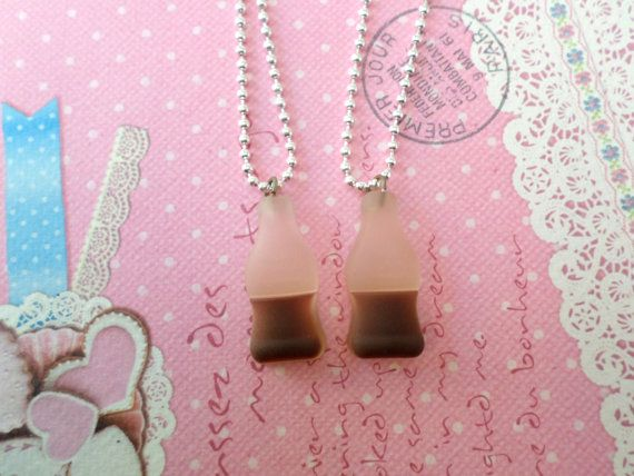 Best Friend Necklaces Miniature Food Jewelry Candy by Cherrydot