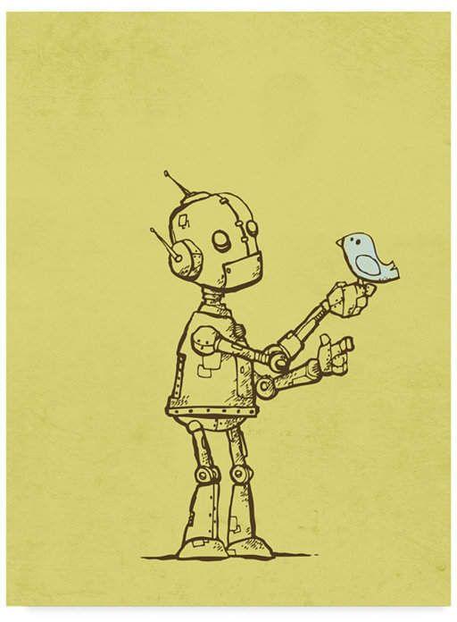 Michael Murdock 'Robot Bird' Canvas Art – 14 x 19