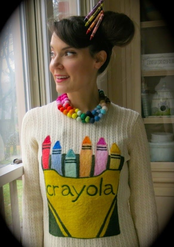 Cassie Stephens: DIY: A Crayola Sweater and a Giveaway!                                                                                                                                                                                 More