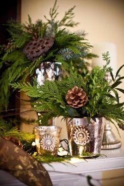 123 best Mercury glass decorating images on Pinterest | Christmas ...