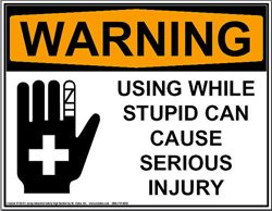 Funny Warning Sign
