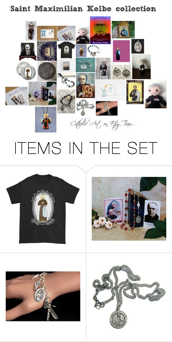 """Saint Maximilian Kolbe collection - Catholic Art on Etsy Team"" by terrytiles2014 ❤ liked on Polyvore featuring art"