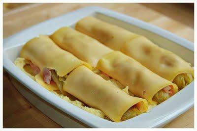 Sylvia's Kitchen: Ovenschotel met puree, witlof, ham en kaas