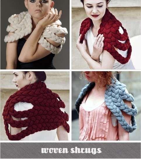Coprispalle a maglia: foto e immagini - Coprispalle con maglia intrecciata