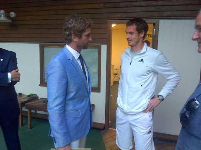 either: Gerard Butler and Andy Murray