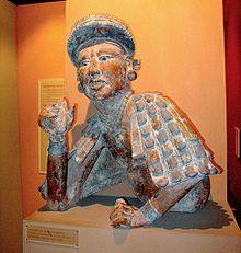 Civilisation maya — Wikipédia Noble maya offrant des fèves de cacao