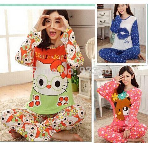 Free Shipping long-sleeve sleepwear cartoon pajamas for women lounge pijama feminino set ladies pajama sets women's nightwear♦️ B E S T Online Marketplace - SaleVenue ♦️👉🏿 http://www.salevenue.co.uk/products/free-shipping-long-sleeve-sleepwear-cartoon-pajamas-for-women-lounge-pijama-feminino-set-ladies-pajama-sets-womens-nightwear/ US $12.65