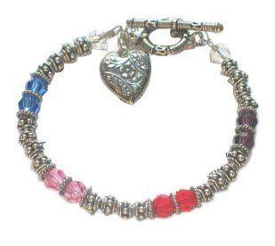Friendship Bracelet MOL Jewelry. $60.00. swarovski crystals. bali sterling silver. friendship poem card
