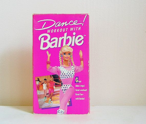 Barbie Dance Workout VHS Tape 90's Jennifer Love Hewitt does the dancing and provides the tunes for the soundtrack.