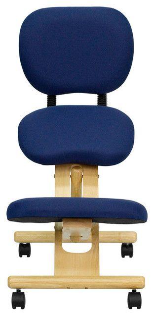 Wooden Ergonomic Kneeling Posture Office Chair Great Chair