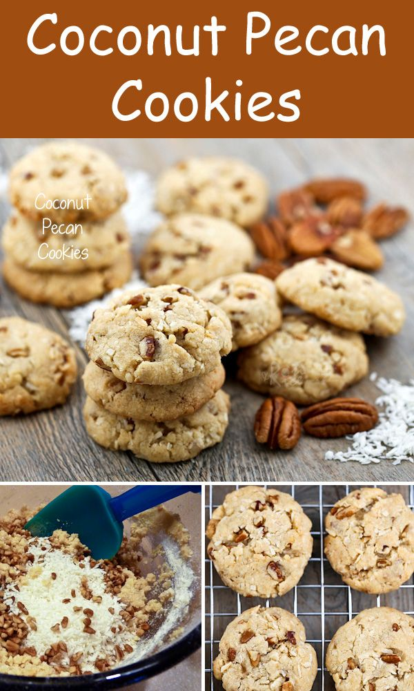 The fragrance and combination of flavors in these Coconut Pecan Cookies are sure to please. Perfect for tea time or the holidays. | Food to gladden the heart at RotiNRice.com