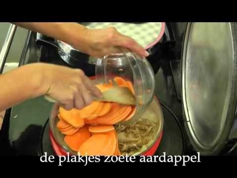 Aga-recept: Tortilla met zoete aardappel en spinazie - YouTube