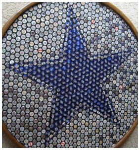 Cowboys beer bottle cap mosaic (do Texas or 'Texas' star or annnnyyyything)