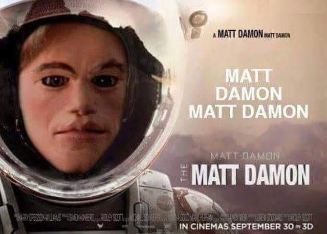 Matt Damon is The Martian   (Team America Style!)                                                                                                                                                                                 More