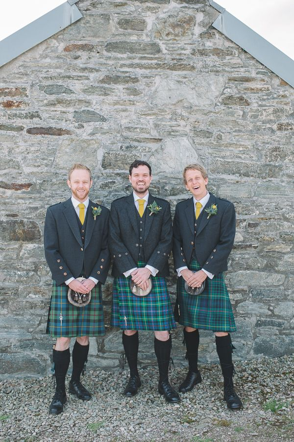 Wedding Groom Kilt Knitted Ties http://www.lisadevinephotography.co.uk/