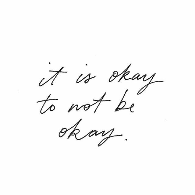 Just a little note to say that it is okay to not be okay, today and any other day #ruok