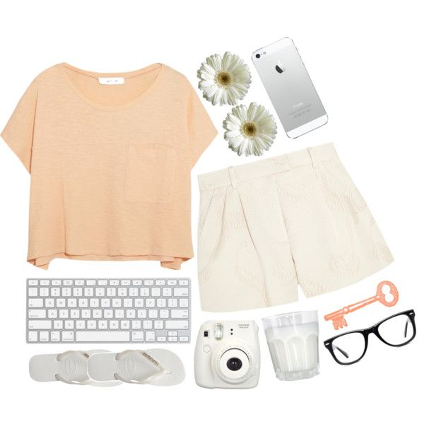 Pale Sunset by graaaace on Polyvore featuring polyvore and art
