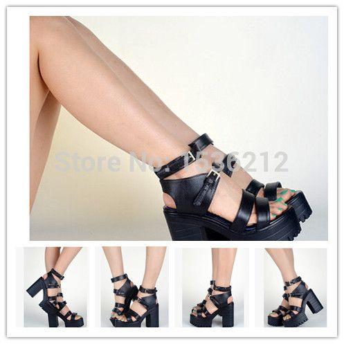 Купить товарГладиатор сандалии женщин на высоких каблуках сандалии рабочая платформа толщиной каблук сандалии девушку вьетнамках в категории Сандалиина AliExpress.   Вы можете смешать все  бренды     ,   Цвета     , И  Размеры     . Оптовая и Dropshipping являются приемлемыми. Большо