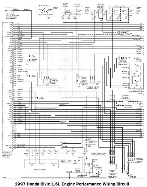 1995 Honda Civic Wiring Diagram In 2020 Honda Civic Civic Diagram