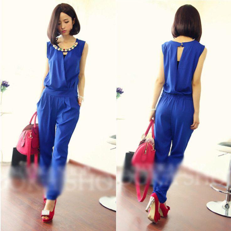 Fashion women's leotard sleeveless chiffon piece pants jumpsuit Girl's Playsuit #Unbranded #Jumpsuit