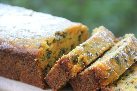 Receta Queque de Naranja, Zanahoria, Linaza y Semillas de Maravilla