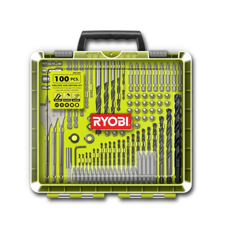 Ryobi Drill and Drive Kit (100-Piece)-A981005 - The Home Depot