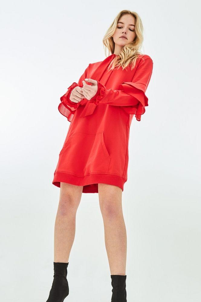SNAPDRAGON Oversized Hoodie Dress - Clothing from Elvi UK