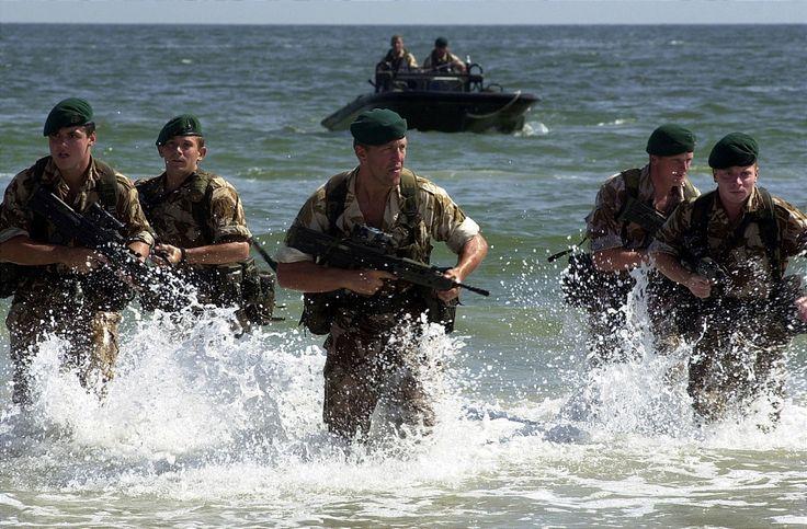 Royal Marines at sea