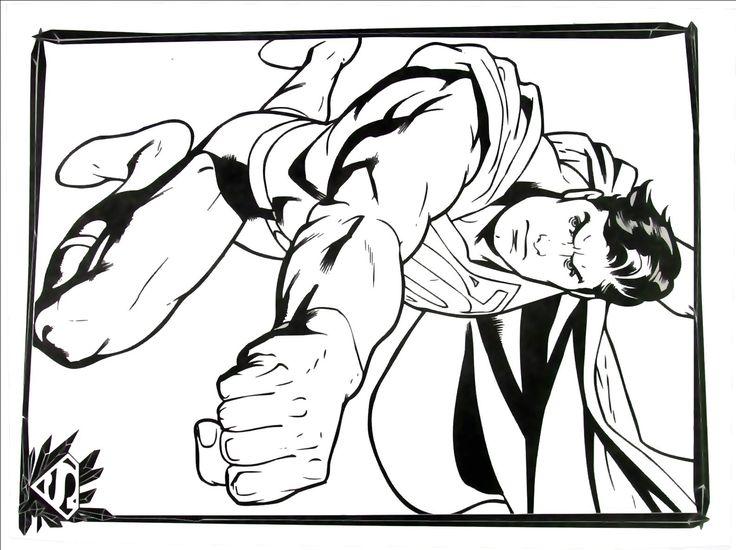 Superman Coloring Book Page Printable