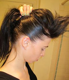 Inspired Xpression: How to Make a Mohawk with Long Hair