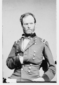 Major General William T. Sherman (Library of Congress) present at Battle of Shiloh, Tennessee, Civil War