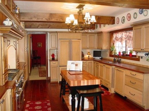 Kitchen Ideas for Low Ceilings | Kitchen With Wood Beam Ceilings